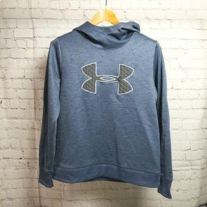 Under Armour Cold Gear Blue Logo Hoodie Sweatshirt